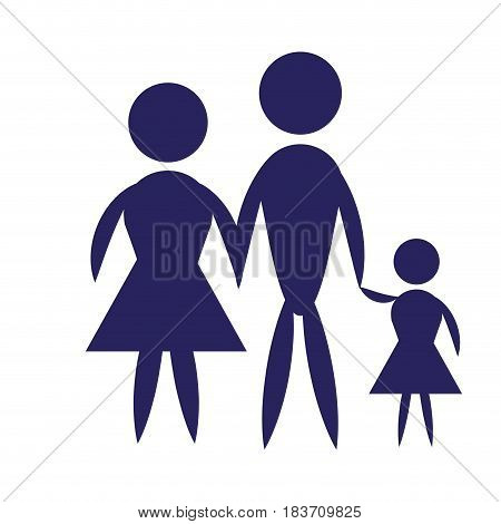Family pictogram icon vector design vector illustration design