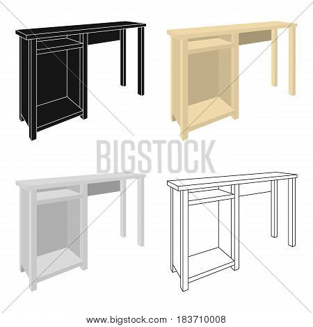 Wooden table legs.Table for drawing pictures.Table with drawers sketch icon for infographic, website or app.Bedroom furniture single icon in cartoon style vector symbol stock web illustration.