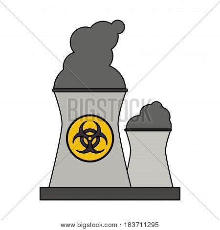 color graphic industrial factory icon biohazard vector illustration
