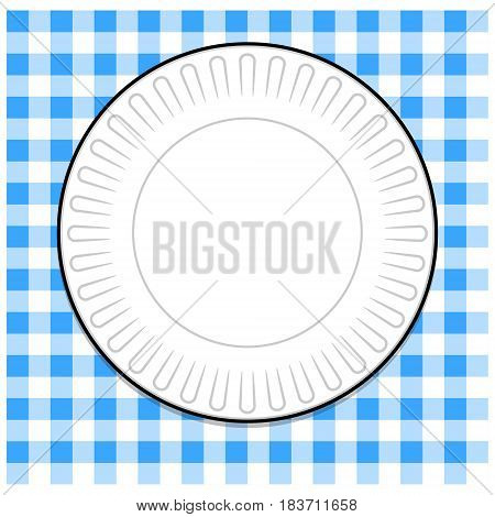 Plate_w_blue_picnic_tablecloth.eps