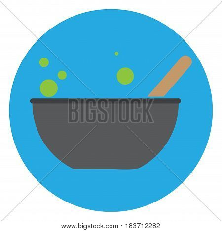 Isolated mixture on a blue button, Vector illustration