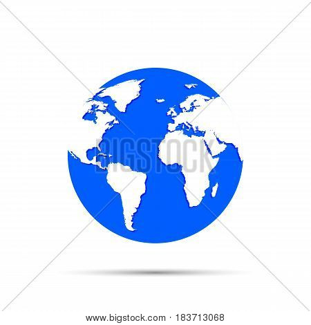 Earth globes isolated on background. Vector illustration. Eps 10.
