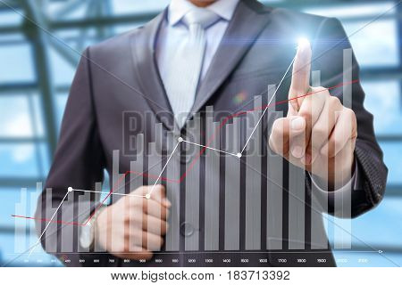 Business Man Running To Schedule Growth.