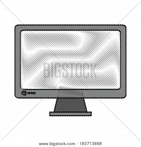 color blurred stripe of display desk computer tech device vector illustration