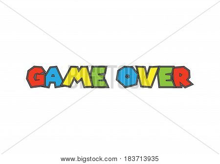 Game over isolated on background. Vector illustration. Eps 10.