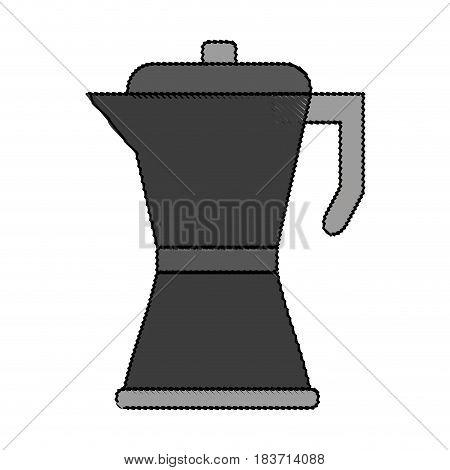 color blurred metallic tea pot for hot drinks vector illustration
