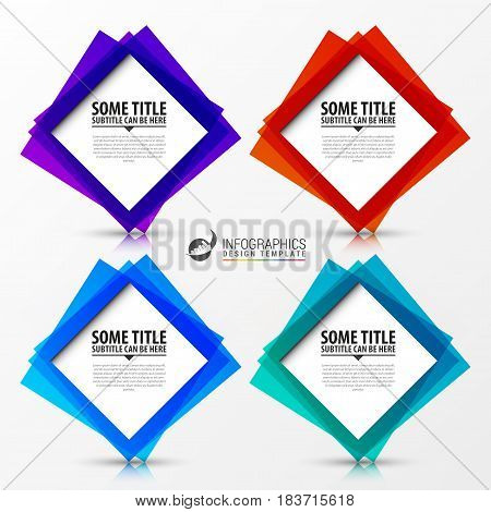 Infographic template. Business concept with 4 options. Vector illustration