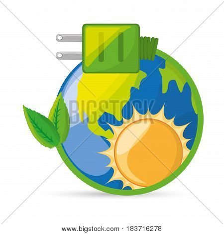 save energy for the planet conservation, vector illustration