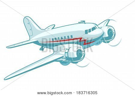 Vector Cartoon Retro Plane. Available EPS-10 vector format separated by groups for easy edit