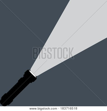 Flashlight isolated on background. Vector illustration. Eps 10.