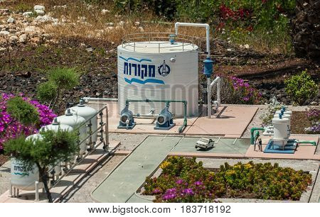 Miniature Of Mekorot Tank And Line Pipes. (mekorot Is The National Water Company), At Mini Israel -