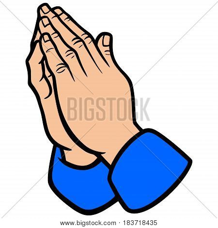 A vector illustration of a praying hands.