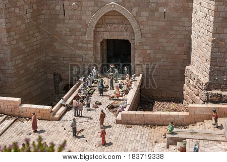 Miniature Of  Damascus Gate In Jerusalem, At Mini Israel - A Miniature Park Located Near Latrun