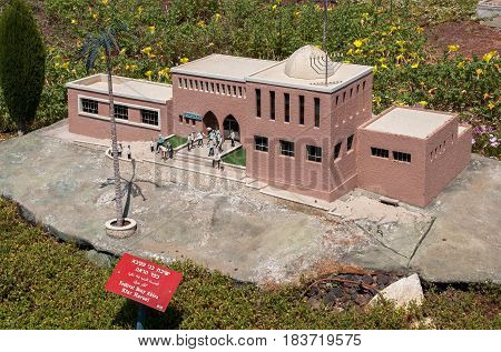 Miniature Of  Yeshivat Bnei Akiva Kfar Haroeh, At Mini Israel - A Miniature Park Located Near Latrun