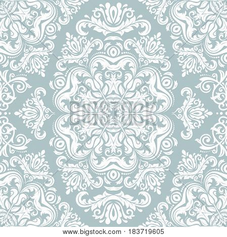 Classic seamless vector white pattern. Traditional orient ornament. Classic vintage background