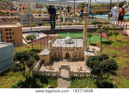 Miniature Of  Hassan Bek Mosque (hasan Bey Mosque)  At Mini Israel - A Miniature Park Located Near L