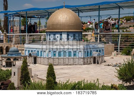 Miniature Of Al Aqsa Mosque  In Jerusalem, At Mini Israel - A Miniature Park Located Near Latrun