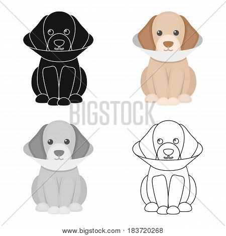 Sick dog vector illustration icon in cartoon design
