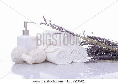 lavender with towel,oil,,spa ball for spa setting