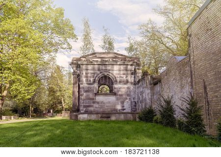 Old Tomb On A Beautiful Spring Day