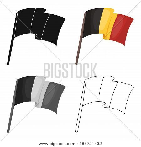 The Belgian flag.The dark Belgian wolf. Belgium single icon in cartoon style vector symbol stock web illustration.