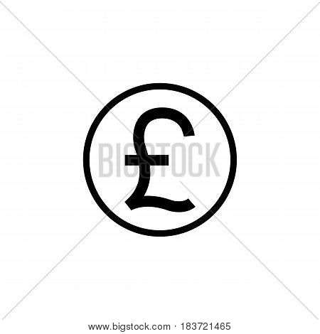 Pound sterling coin solid icon, finance and business, Pound sign vector graphics, a filled pattern on a white background, eps 10.