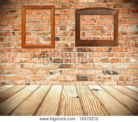 Innenraum eines Landhauses mit frames