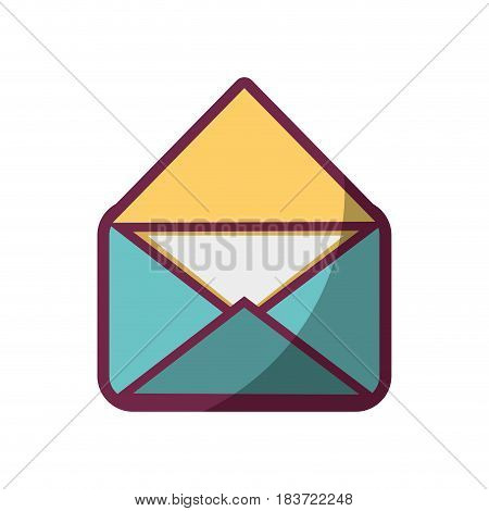 open letter message to communication concept icon, vector illustration