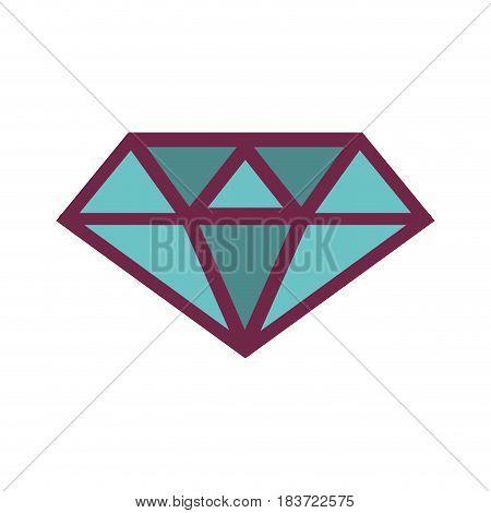 blue luxury diamond cristal gem, vector illustration