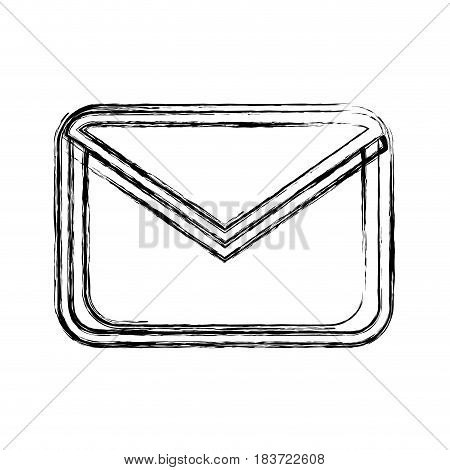 figure letter message to communication concept icon, vector illustration