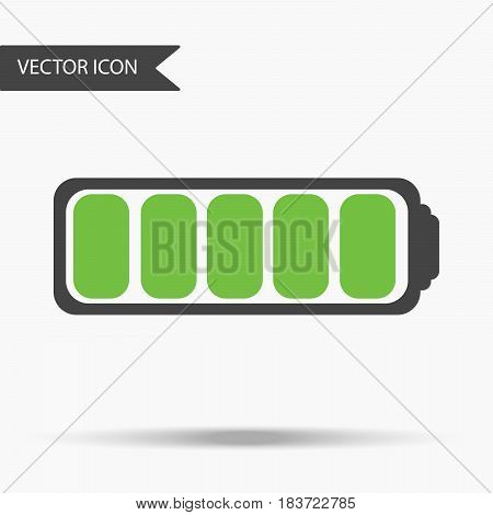 Vector Business Icon Fully Charged Battery. Icon For For Annual Reports, Charts, Presentations, Work