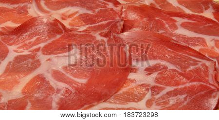 Italian Sliced Coppa Pork Prosciutto