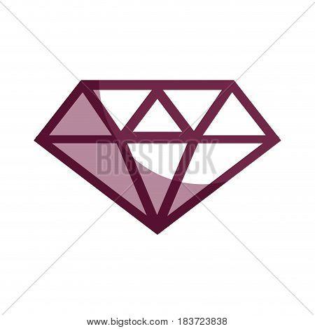 contour luxury diamond cristal gem, vector illustration