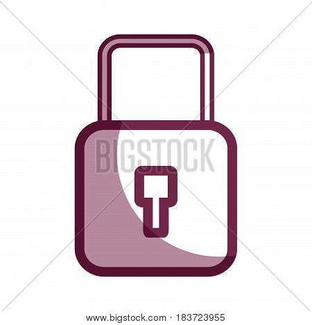 contour security padlock key to protection information, vector illustration