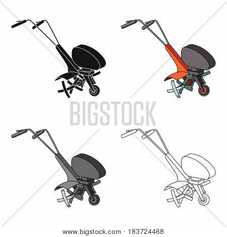 Mowers for cutting grass and lawn. Agricultural machinery for the court.Agricultural Machinery single icon in cartoon style vector symbol stock web illustration.