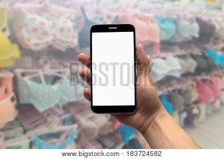 Blurred photo, Blurry image, Selling underwear, background