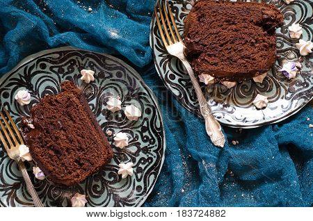 Chocolate Cake With Avocado Banana And Chocolate Ganache
