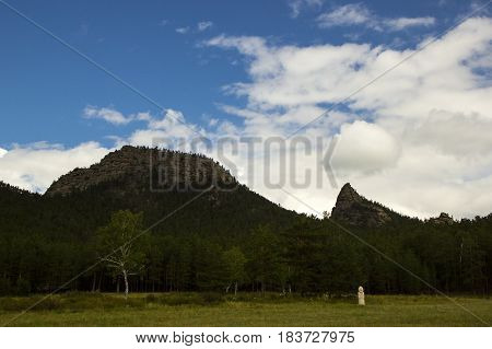 Borovoe, Burabay National park in Northern Kazakhstan, sleeping hedgehog mountain.
