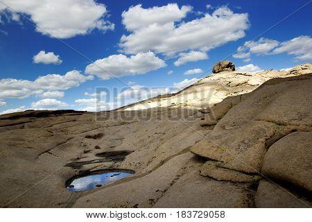 Bektau ata, extinct volcano in central Kazakhstan, ancient and amazing natural phenomenon