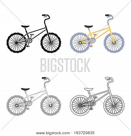 BMX Cyclist Bicyclist Athletes Sportsman. Bike for jumps and athletes.Different Bicycle single icon in cartoon style vector symbol stock web illustration.
