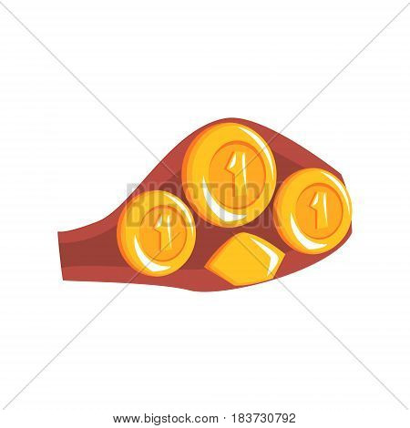 Boxing championship belt, accessory for boxer. Colorful cartoon vector Illustration isolated on a white background