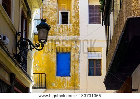 Traditional antique city building in valencia, Spain