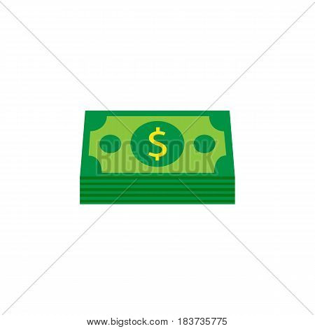 Bundle of money coin solid icon, finance and business, dollars sign vector graphics, a filled pattern on a white background, eps 10.