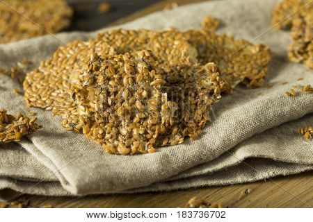 Healthy Homemade Flax Seed Crackers
