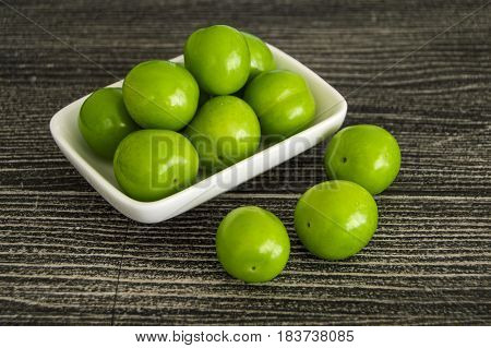 Sour green plum, the most wonderful and mouth watering sour plums,