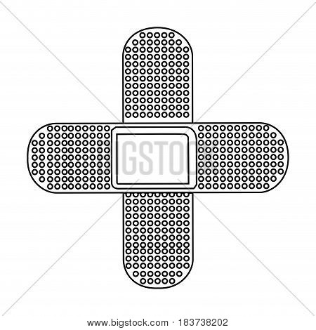 silhouette couple of cures in cross form vector illustration