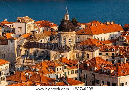 Assumption Cathedral in the old part in Dubrovnik, Croatia.