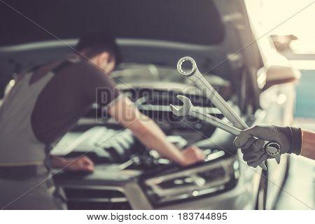 At The Auto Service