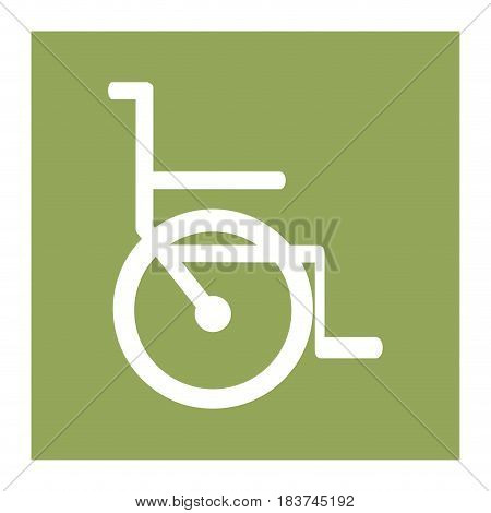 color square frame with wheelchair icon vector illustration