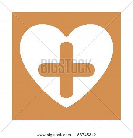 color square frame with heart and cross vector illustration
